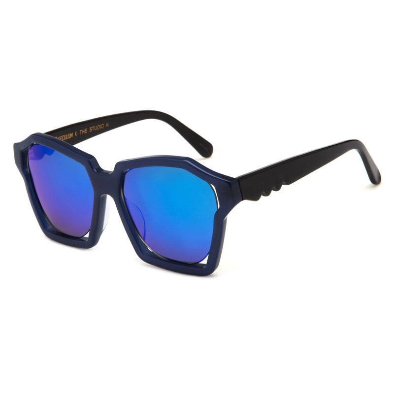 Eyeglass Frame Visualizer : Speculum SunGlasses Visualization of sound - Blue Mirror ...